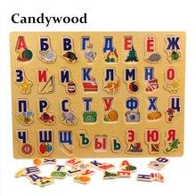 39*29 CM duże Puzzle drewniane zabawki rosyjski alfabet Puzzle zabawki dla dzieci alfabet chwyć pokładzie edukacyjne dla dzieci rozwijających się zabawki