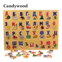 39*29 см большой пазл деревянные игрушки русский алфавит Пазлы игрушки для детей Алфавит захватывающая доска Детские Развивающие игрушки