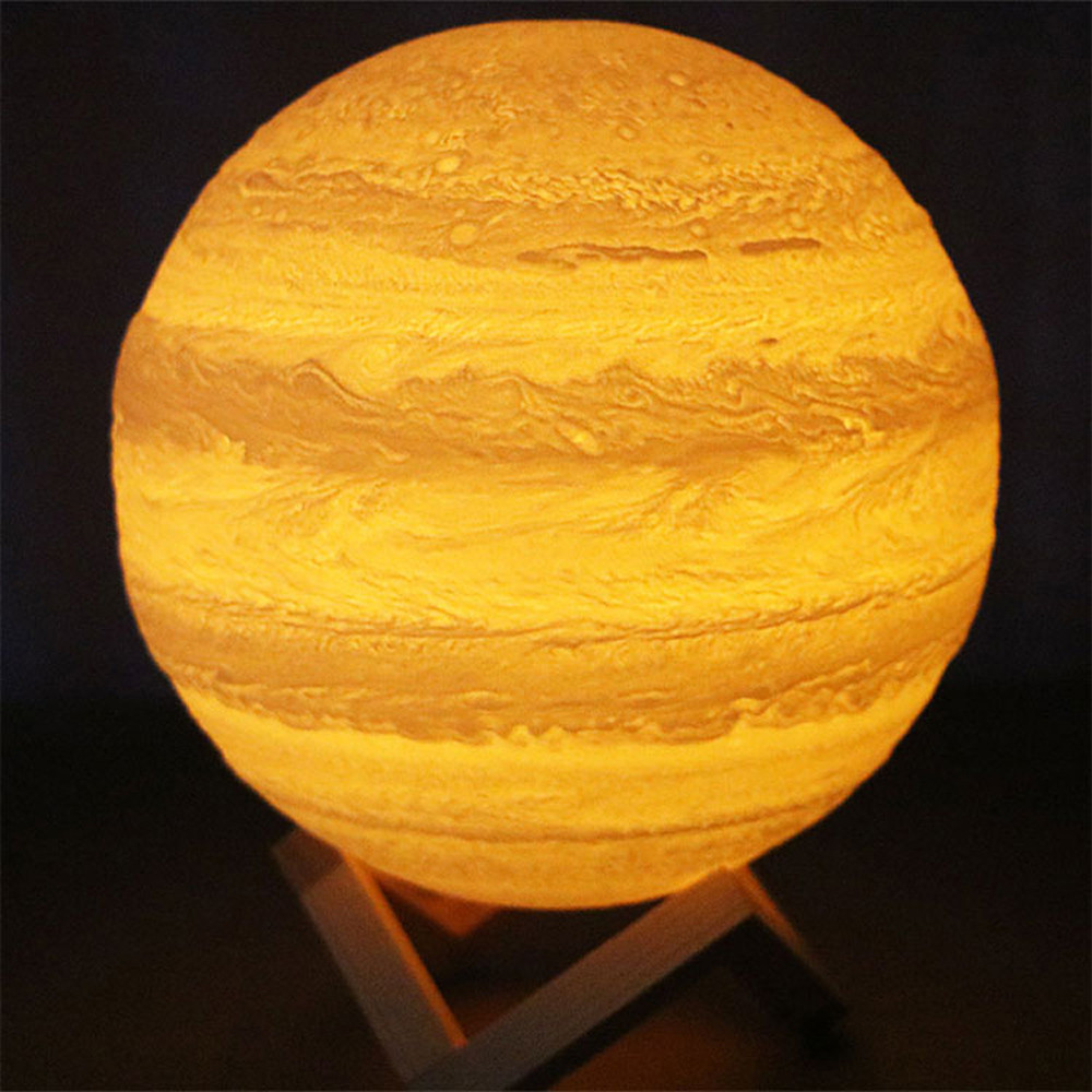 3D USB Hand Contact Lights Jupiter Night Light LuminousTable Desk Lamp Gift Energy saving and environmental protection