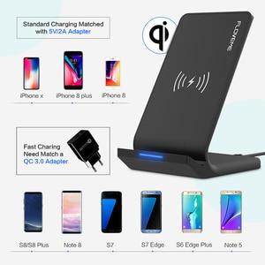 Image 5 - FLOVEME 삼성 갤럭시 S8 S7 S10 용 5V/2A 무선 충전기 Note 8 9 Qi 무선 충전 도크 For iPhone12 11MAX USB 충전기