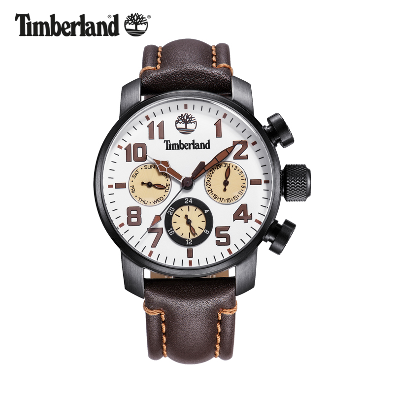 Timberland Original Mens Watches Top Brand Luxury Outdoor Sport Casual Quartz Leather Calendar Water Resistant Men Watch T14783