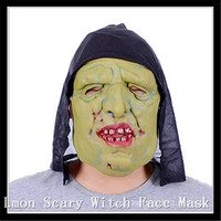 Free Size Horror Witch Mask Prank Props Scary Halloween House Of Terror Mask Horror Cosplay Costume