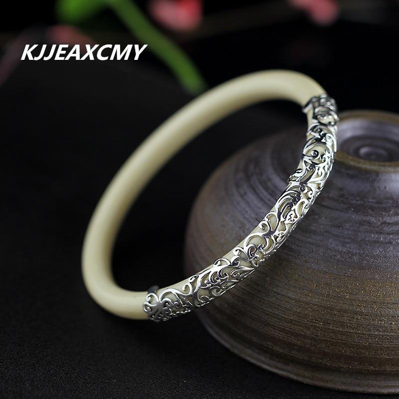 KJJEAXCMY 925 Sterling Silver Jewelry Retro Classic Small Silver High  Ivory Bracelets