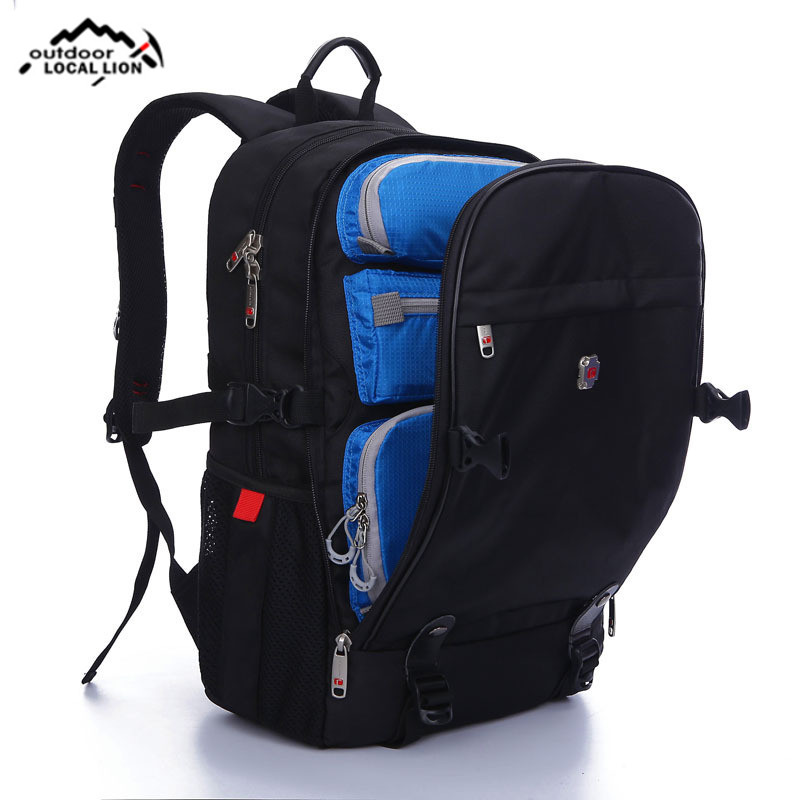 High Quality Men Nylon 17 Inch Large Capacity Convertible Shockproof Backpack Travel Bag Business Laptop Outdoor Sports Bags safrotto high quality photographic outdoor travel waterproof large trolley case bag casual shockproof photo backpack