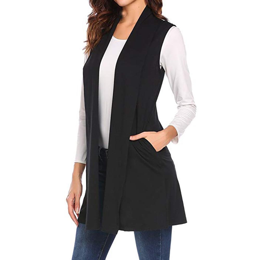 Women Winter Veste Femme Women Casual Sleeveless Cape Shawl Ruffles Draped Open Front Cardigan Vest Coats And Jackets