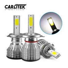 Carlitek super led h11 h1 h7 farol do carro lâmpada 2000lm 18w farol de led 6000k auto moto luzes de nevoeiro lampada carro