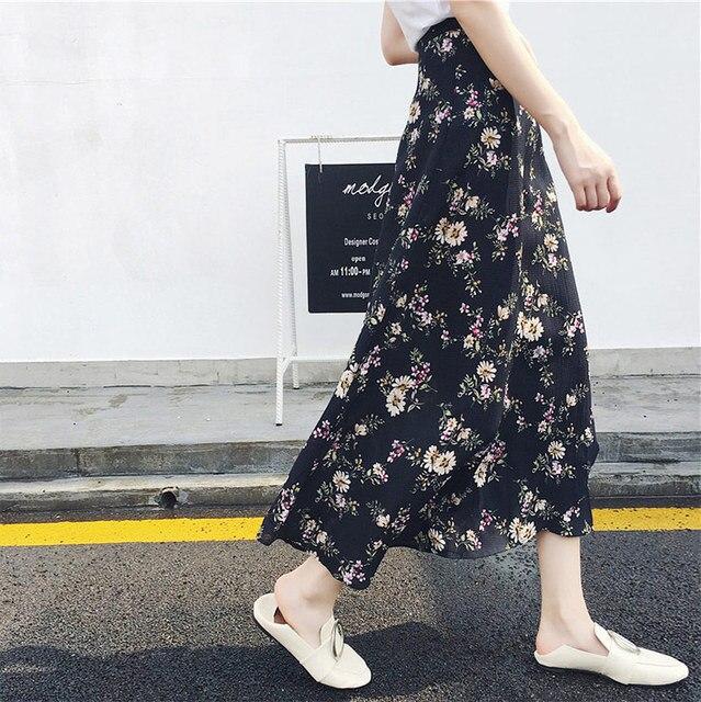 Женская асимметричная шифоновая юбка макси в богемном стиле 6