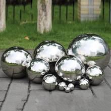 304 Edelstahl Spiegel Ball Kugel Nahtlose Hohl Ball 1.9/3.8/5,1 cm Für Garten Dekore