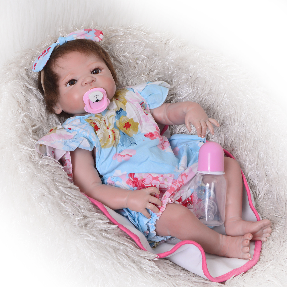 23 Inch Bebes Reborn  Girl Doll Full Silicone Vinyl reborn baby dolls Realistic Princess Baby Toy Doll For Child birthday gift23 Inch Bebes Reborn  Girl Doll Full Silicone Vinyl reborn baby dolls Realistic Princess Baby Toy Doll For Child birthday gift