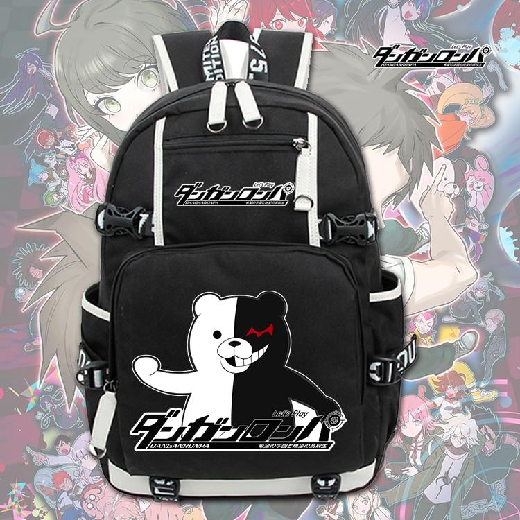 Danganronpa Monokuma Cartoon Printing Backpack Anime Bags Student School Bags Men Travel Bags Laptop Shoulders Bags цена