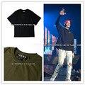 2016 Novo Kanye West Yeezy Homens Hiphop Superdimensionada Deus da medo de Justin Bieber camiseta Camuflagem Moda Verão Camisa de Algodão casuais