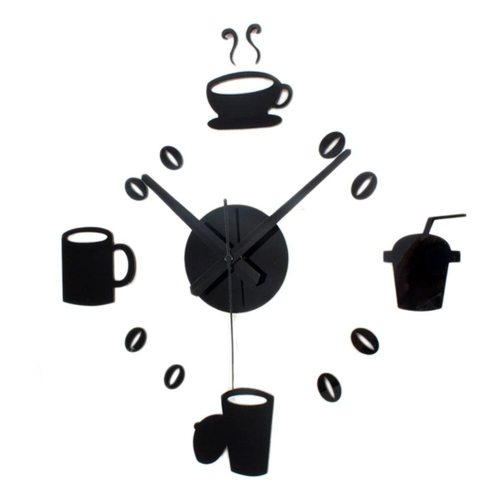 DIY Wall Clock Modern Design Coffee Time Kitchen Clocks Europe Retro ...