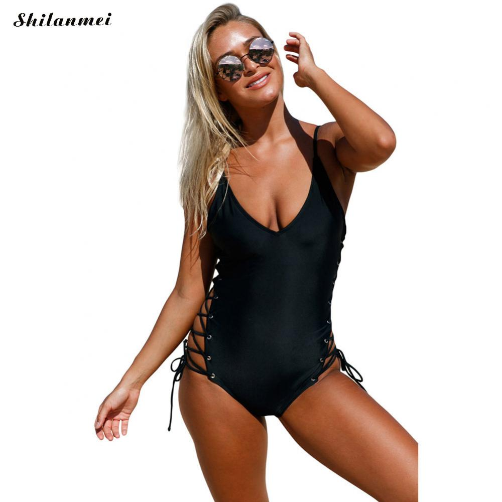 New Arrival bathing suit women plus size Swimsuit ladies womens sexy One- Piece swimwear swimsuit ...