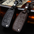 Leather Car Styling Key Cover Case For Audi Sline A3 A5 Q3 Q5 Q7 A6 C5 C6 A4 B6 B7 B8 TT 80 S6 Auto Accessories