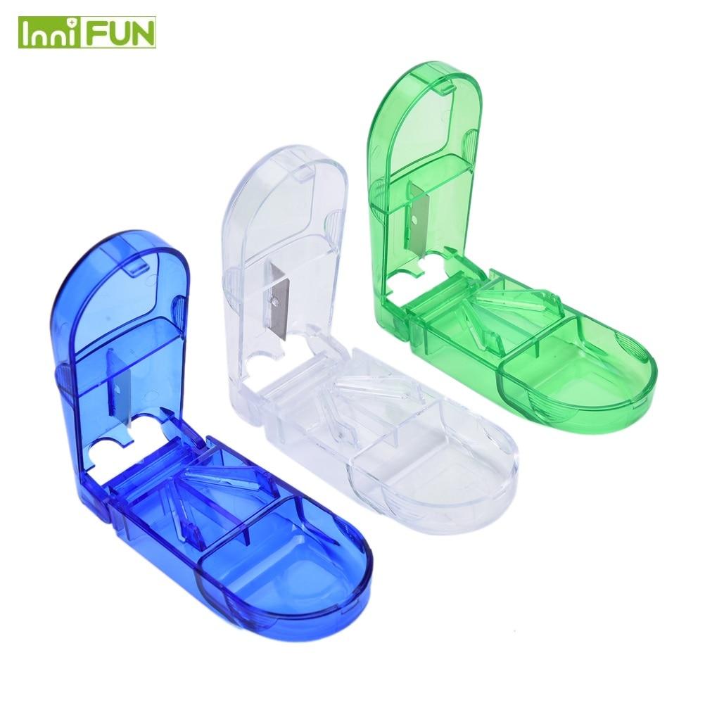 купить 1PCS Mini Useful Portable Storage Box Medicine Pill Holder Tablet Cutter Splitter Pill Case 3Colors