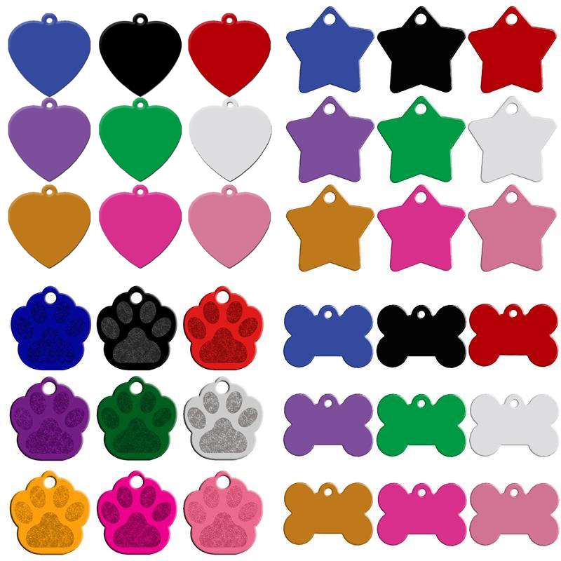 moq 80pcs lot engaved double sides personalized dog name tags pet id