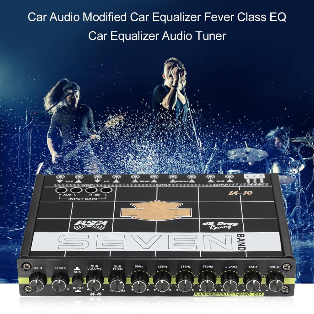 KKMOON Car Audio Modified Car Equalizer Fever Class EQ 7 Equalizer Car Audio Tuner car styling for Auto audio For BMW Ford VW auto audio