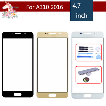 For Samsung Galaxy A3 2016 A310 A310F SM-A310F A310M Front Outer Glass Lens Touch Screen Panel Replacement