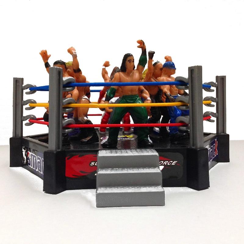 Classic Wrestling Gym Sport Club The Wrestler Athlete Figure Building Wrestler Arena Model Gladiators Wrestler Action Figure Toy