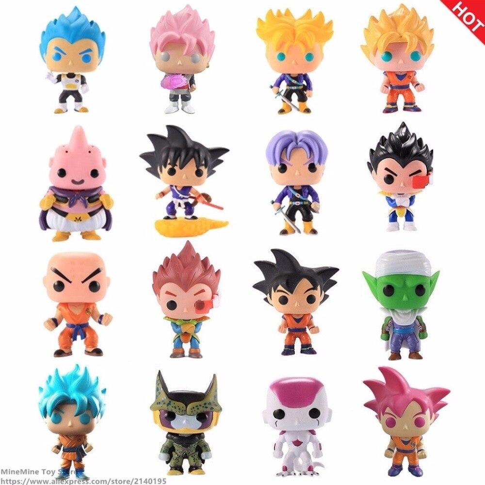 ZXZ Anime Dragon Ball Z Super Saiyan Pop Vegeta Trunks Gohan Doll Action Figures Dragonball Figurine Collection Model Toy