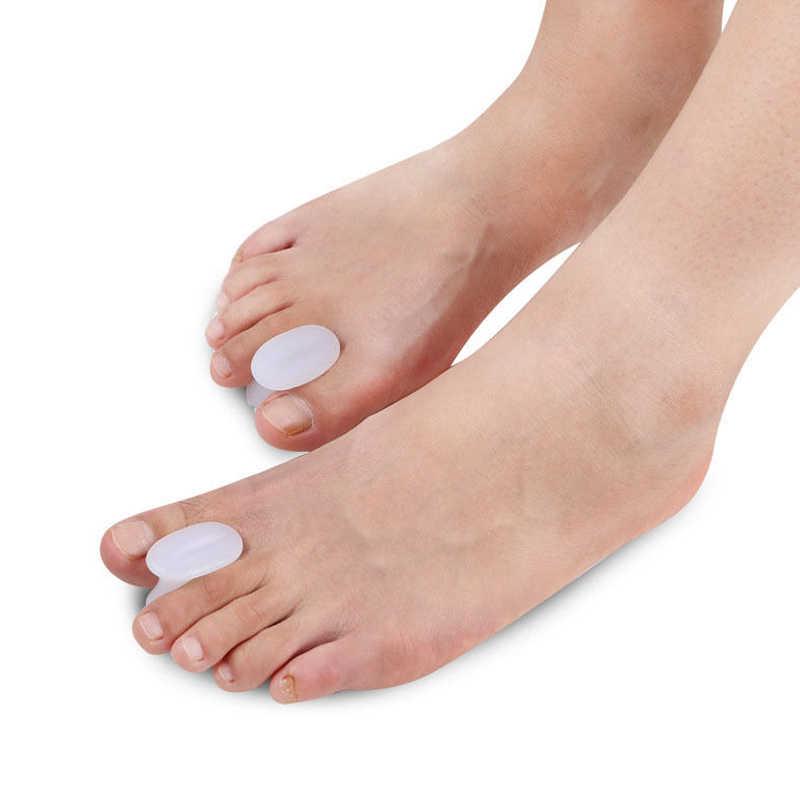 Venta de Gel de silicona separador de dedo del pie espaciador alisador de alivio de pies dolor de Unión cuidado de los pies previene la almohadilla de aislamiento de los dedos superpuestos
