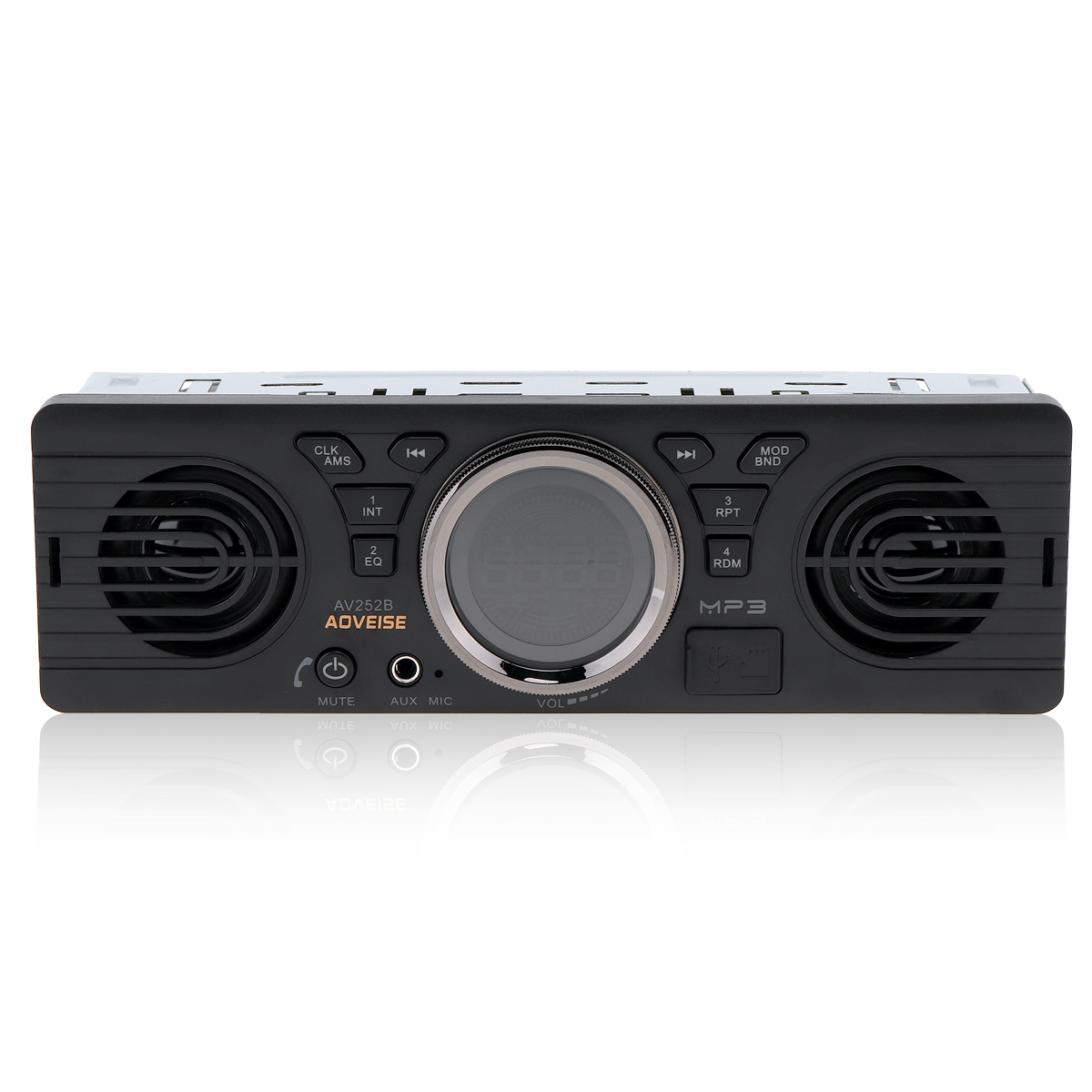 AOVEISE AV252B 12V Car Dual Horn MP3 Audio Player Vehicle Stereo Audio Support FM USB AUX in Car Radios from Automobiles Motorcycles