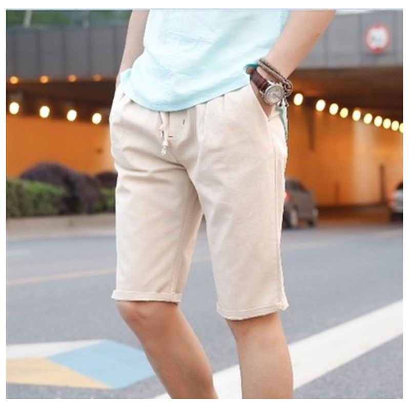 2017 Brand New Mens Short Pants Summer Linen Cotton and Linen Shorts Men Casual Shorts Solid Color Loose Shorts Fashion 8 Colors