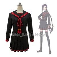 Re:CREATORS Magane Chikujoin Black Sailor School Uniform JK set Cosplay Costume Gloves
