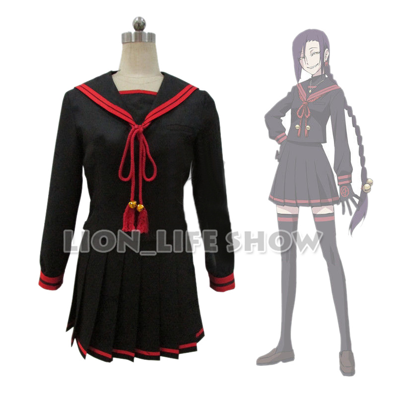 Re:CREATORS Magane Chikujoin Black Sailor School Uniform JK set Cosplay Costume Gloves ...