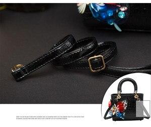 Image 5 - 2020 Luxury Fashion Diamonds Womens Handbags Shoulder Messenger Bag Crocodile Pattern Crossbody Bags Drill Rhinestone Butterfly