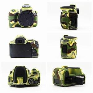 Image 5 - Gumowe silikonowe etui miękkie ciało obudowa ochronna skóry dla Canon EOS 200D 250D/200D II Rebel SL2 SL3 pocałunek X9 X10 lustrzanka cyfrowa
