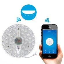 Sonoff bn-sz01 Wi-Fi Беспроводной Круглый Заподлицо Светодиодный потолочный светильник Холодный белый ewelink приложение Дистанционное управление через телефон smarthome