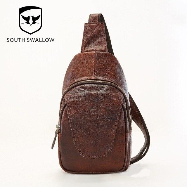 Online Shop Hot Sales New Fashion Men's Chest Bag Leather Sling ...