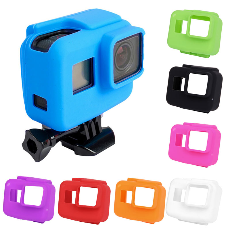 Soft Silicone Rubber Frame Protective Cover Housing Case Black For GoPro Hero 5 стоимость