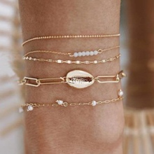 2019 pearl Ankle Chain Pineapple Pendant Anklet Beaded Summer Beach Foot gold Jewelry Fashion Style Anklets for Women