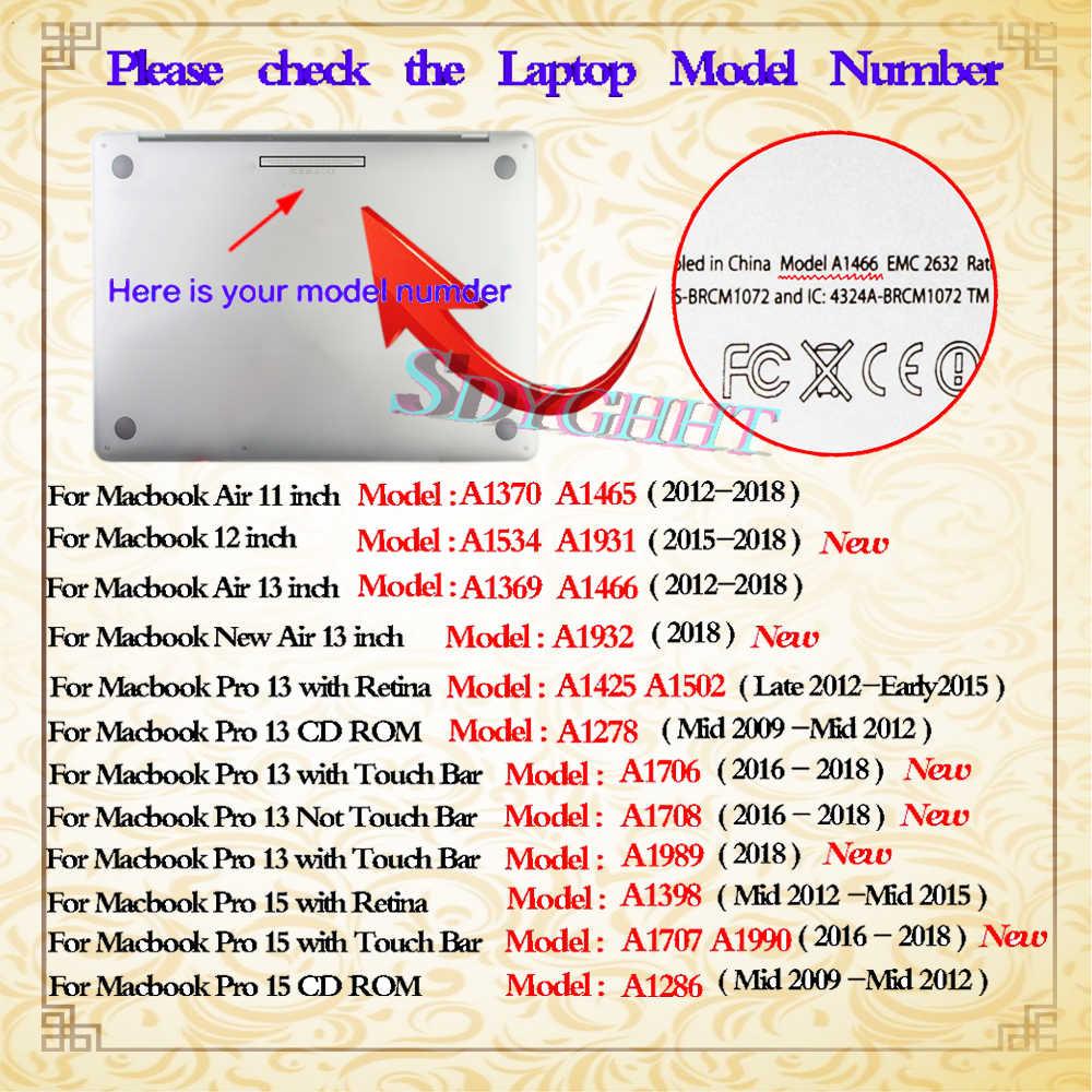 """حافظة لجهاز ابل ماك بوك اير برو ريتينا 11 """"12"""" 13 """"15"""" حافظة لجهاز ماك بوك اير برو 13.3 """"15.4"""" تاتش بار"""