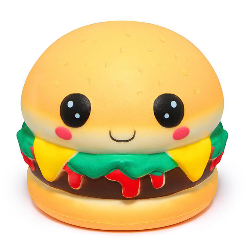 Jumbo Kawaii Burger Squishy Slow Rising Creative Cream Scent Soft Decompression Squeeze Toy Stress Relief Fun Kid Baby Gift Toy