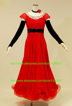 Ballroom Dance Dress Unique Style Smooth Waltz Tango Dancing Wear Red Stage Standard Ballroom Performance Dresses