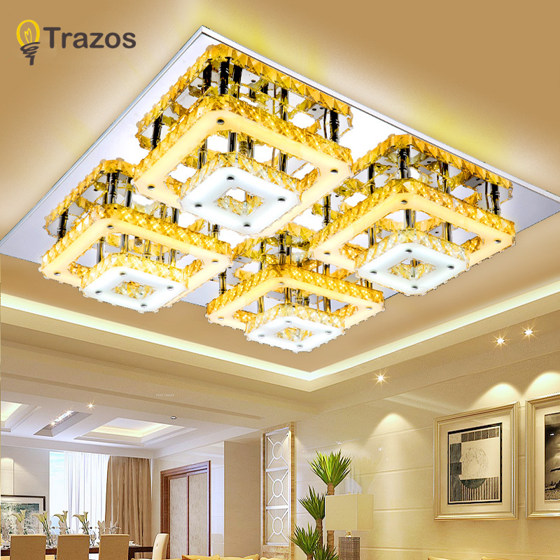 Abajur Hot Surface Mounted Modern Led Ceiling Lights For Living Room Bedroom Luminaria Teto Fashion Crystal Lamp For Home Deco modern multicolour crystal ceiling lights for living room luminarias led crystal ceiling lamp fixtures for bedroom e14 lighting
