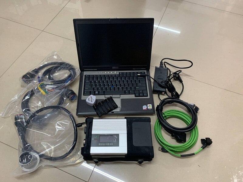 2019 MB Étoiles C5 SD Connecter sd c5 avec Ordinateur Portable D630 (4g) lecteur de disque dur ssd Diagnostic Logiciel 2018.12 v DAS DTS pour Mb Étoiles C5 Voitures et Camions
