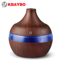 KBAYBO USB 300ml Aroma Humidifier Aromatherapy Wood Grain 7 Color LED Lights Electric Aromatherapy Essential Oil