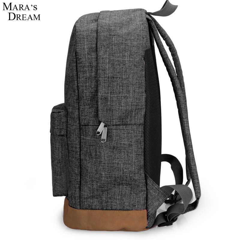 Mara es sueño 2018 nuevo diseño hombres mochilas Bolsa Mochila ordenador portátil bolsas de los hombres Mochila escolar