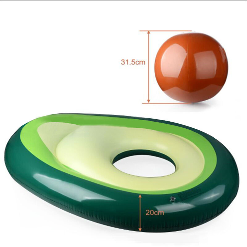 160x125cm giant avocado inflatable swimming ring summer party swimming pool adult children floating toy mattress in Swimming Rings from Sports Entertainment