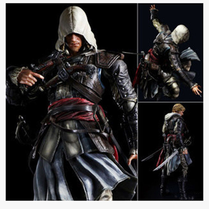 цена на Free Shipping 9 PA KAI Assassins Creed 4 Black Flag Edward Kenway Boxed 23cm PVC Action Figure Collection Model Doll Toy
