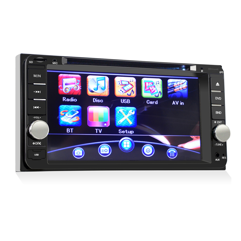 Two din Car Radio 7'' Universal Car DVD Player Car Stereo Bluetooth wifi phone Car Radio Audio Player For TOYOTA FM AM USB iPod