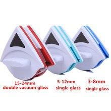 Casa Ferramenta Dupla Face Magnética Janela Limpador De Vidro Janela Escova de Limpeza de Vidro Wiper Superfície Útil Escova 3-8mm 5-12mm 15-24mm