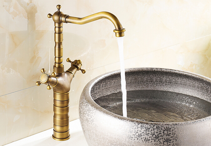 wholesale and retail high quality total brass cold and hot bathroom luxury Europe style high basin sink faucet mixer tap fashion europe style high quality brass