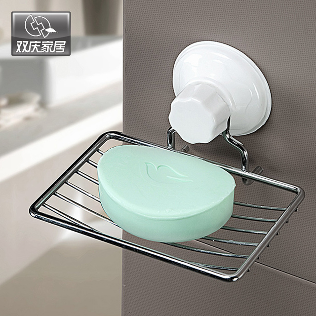 Superbe Free Shipping Suction Cup Metal Soap Holder For Shower Room Soap Dish Holder  With House Decor