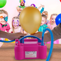 Double Electric Air Balloon Pump Portable Inflator 600W for Home Party Wedding Hot Sale