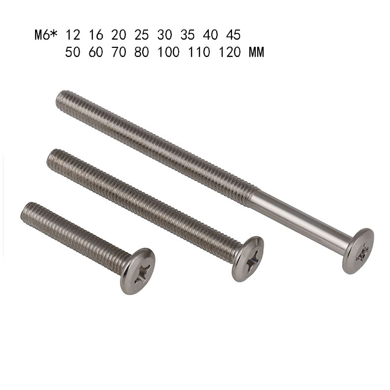 40mm Wood Connector Screws Hex Drive Steel Flat Head Furniture Fixing Timber